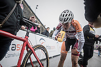 Maud Kaptheijns (BEL/Steylaerts-Verona) after finishing<br /> <br /> UCI Cyclocross World Cup Namur/Belgium 2016