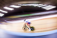 Picture by Alex Whitehead/SWpix.com - 04/03/2016 - Cycling - 2016 UCI Track Cycling World Championships, Day 3 - Lee Valley VeloPark, London, England - Great Britain's Jon Dibben wins Gold in the Men's Points Race.