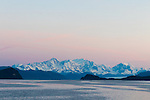 The Fairweather Mountains as seen from a ship, Inside Passage, Alaska, USA