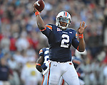 Auburn quarterback Cameron Newton (2) passes at Vaught-Hemingway Stadium in Oxford, Miss. on Saturday, October 30, 2010. Auburn won 51-31.