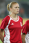 12 August 2008: Clare Rustad (CAN).  The women's Olympic team of Sweden defeated the women's Olympic soccer team of Canada 2-1 at Beijing Workers' Stadium in Beijing, China in a Group E round-robin match in the Women's Olympic Football competition.