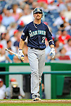 21 June 2011: Seattle Mariners shortstop Brendan Ryan in action against the Washington Nationals at Nationals Park in Washington, District of Columbia. The Nationals rallied from a 5-1 deficit, scoring 5 runs in the bottom of the 9th, to defeat the Mariners 6-5 in inter-league play. Mandatory Credit: Ed Wolfstein Photo