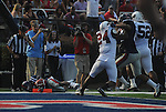 Ole Miss' Jeff Scott (3) scores at Vaught-Hemingway Stadium in Oxford, Miss. on Saturday, September 10, 2011. Ole Miss won 42-24.