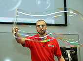 Making enormous bubbles.  Science Circus Day put on by the Science Museum's Outreach Team, University of Surrey.