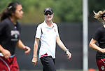 21 August 2011: South Carolina head coach Shelley Smith. The Duke University Blue Devils defeated the University of South Carolina Gamecocks 2-0 at Koskinen Stadium in Durham, North Carolina in an NCAA Women's Soccer game.