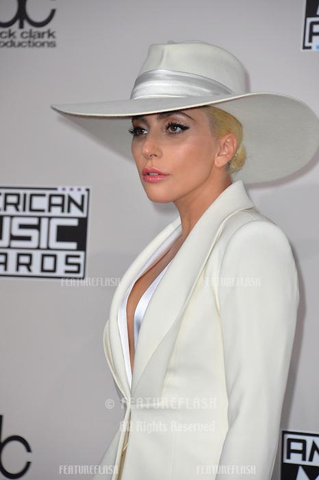 LOS ANGELES, CA. November 20, 2016: Singer Lady Gaga at the 2016 American Music Awards at the Microsoft Theatre, LA Live.<br /> Picture: Paul Smith/Featureflash/SilverHub 0208 004 5359/ 07711 972644 Editors@silverhubmedia.com