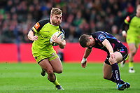 Jack Roberts of Leicester Tigers in possession. Anglo-Welsh Cup Final, between Exeter Chiefs and Leicester Tigers on March 19, 2017 at the Twickenham Stoop in London, England. Photo by: Patrick Khachfe / JMP
