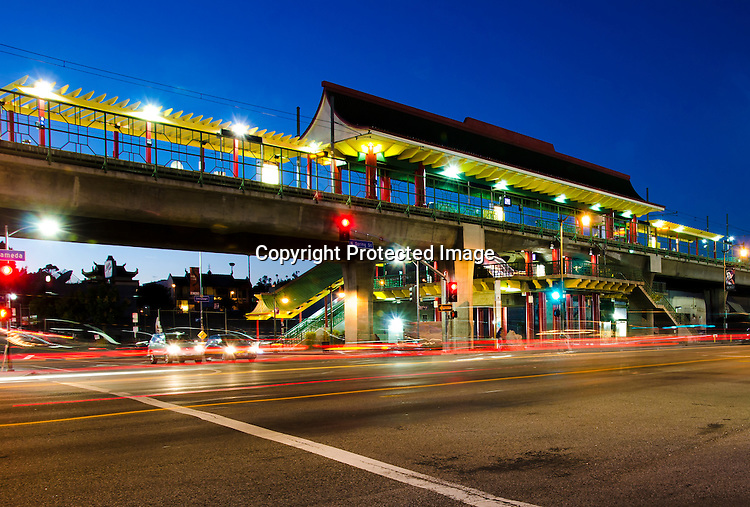 Stock photo of Los Angeles Rail Station