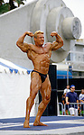Muscle man competition at Muscle Beach in Venice, CA