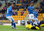 St Johnstone v Alashkert FC...09.07.15   UEFA Europa League Qualifier 2nd Leg<br /> Michael O'Halloran scores for saints<br /> Picture by Graeme Hart.<br /> Copyright Perthshire Picture Agency<br /> Tel: 01738 623350  Mobile: 07990 594431