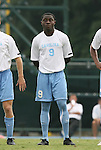 31 August 2008: UNC's Eddie Ababio. The University of North Carolina Tar Heels defeated the Virginia Commonwealth University Rams 1-0 in overtime at Fetzer Field in Chapel Hill, North Carolina in an NCAA Division I Men's college soccer game.