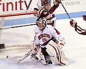 Chloe Desjardins (NU - 29), Emily Field (BC - 15) - The Northeastern University Huskies defeated Boston College Eagles 4-3 to repeat as Beanpot champions on Tuesday, February 12, 2013, at Matthews Arena in Boston, Massachusetts.