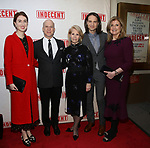 Isabella Huffington, Richie Jackson, Daryl Roth , Jordan Rorth and Arianna Huffington attends the Broadway Opening Night Performance of  'Indecent' at The Cort Theatre on April 18, 2017 in New York City.