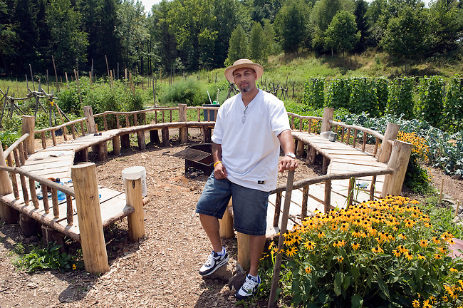 Carlos rosario in the garden at bard college in annandale on hudson new york he helped - Gardening in prisons plants and social rehabilitation ...