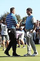 February 21, 2016: Jason Kokrak & Bubba Watson during the final round of the Northern Trust Open, Pacific Palisades,CA. Michael Zito/ESW/CSM