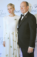 NEW YORK, NY - OCTOBER 24:  Her Serene Highness Princess Charlene of Monaco and Prince Albert II  attend the 2016 Princess Grace Awards Gala at Cipriani Broadway on October 24, 2016 in New York City. Photo by John Palmer/MediaPunch