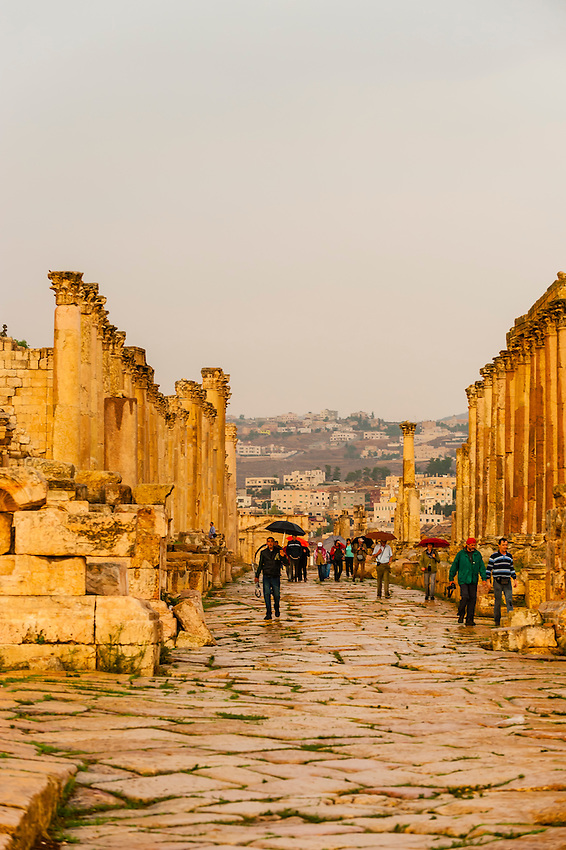 The Colonnaded Street, Greco-Roman ruins, Jerash, Jordan.