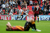 Millwall's Jed Wallace leads the celebrations at the end of the match during Bradford City vs Millwall, Sky Bet EFL League 1 Play-Off Final at Wembley Stadium on 20th May 2017