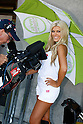 July 24, 2010 - Laguna Seca, USA - A grid girl poses in the paddock prior the U.S. Grand Prix held on July 25, 2010. (Photo Andrew Northcott/Nippon News)