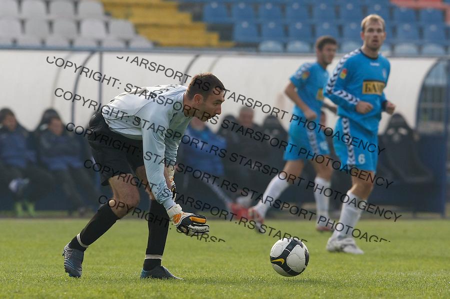Fudbal, Jelen Super liga, sezona 2009/2010.BSK Borca Vs. Rad.Goalkeeper Slobodan Jankovic.Beograd, 31.10.2009..foto: Srdjan Stevanovic/Starsportphoto ©