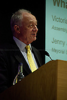 Ken Livingstone, British politician - 2012<br /> <br /> London 23/04/2012. Today the &quot;Old Theatre&quot; at LSE (London School of Economics) was the arena of a pre-election mayoral debate organised by Fawcett Society. The discussion was focused on what the candidates will do for the 4 million women living in London if elected as new Mayor. The speakers included: Victoria Borwick (Assembly candidate for the Conservative Party) on behalf of Boris Johnson (Actual Mayor of London and candidate for the Conservative Party), Ken Livingston (Mayoral candidate for the Labour Party), Jenny Jones (Mayoral candidate for the Green Party), Brian Paddick (Mayoral candidate for the Liberal Democrats). Chair of the event was Ceri Goddard (CEO Fawcett Society).