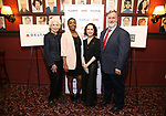 Jano Herbosch, Patina Miller, Bebe Neuwirth and Gabriel Shanks attends the 2017 Drama League Award Nominees Announcements at Sardi's on April 19, 2017 in New York City.