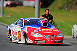 Jun. 19, 2011; Bristol, TN, USA: NHRA pro stock driver Shane Gray during eliminations at the Thunder Valley Nationals at Bristol Dragway. Mandatory Credit: Mark J. Rebilas-