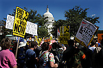 Washington DC,thousands of people march against the.Iraq war Sep 15, 2007