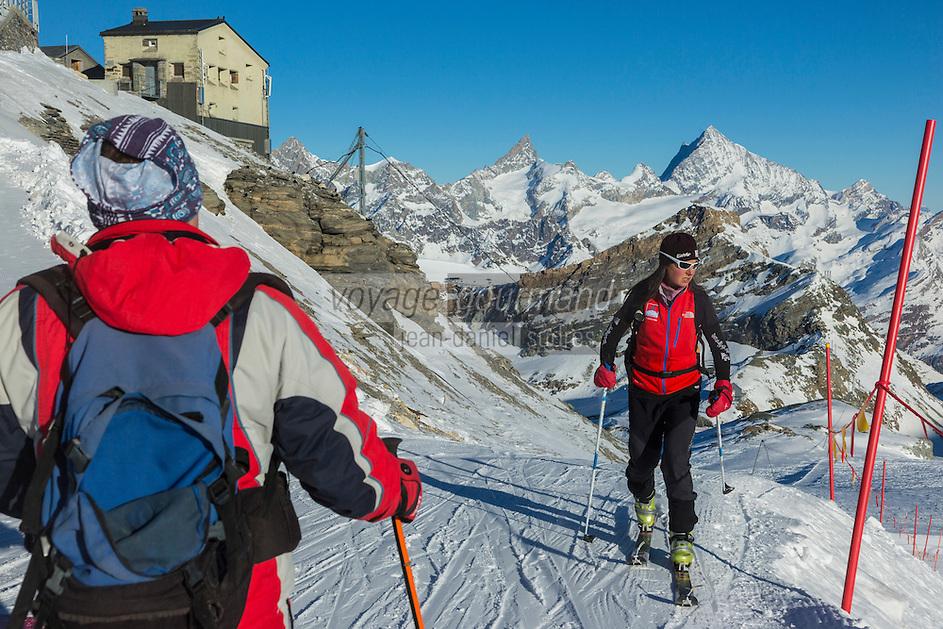 Italie, Val d'Aoste, Breuil-Cervinia : Plateau Rosa 3480 m,  photos du domaine skiable de Breuil-Cervinia// Italy, Aosta Valley, Breuil-Cervinia