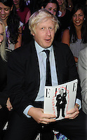 London Mayor Boris Johnson at the LFW Caroline Charles show at London Fashion Week..