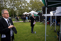 The day after Election Day at College Green (Abingdon Street Gardens) in Westminster, London.