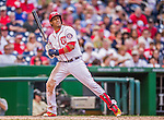 20 September 2015: Washington Nationals third baseman Yunel Escobar in action against the Miami Marlins at Nationals Park in Washington, DC. The Nationals defeated the Marlins 13-3 to take the final game of their 4-game series. Mandatory Credit: Ed Wolfstein Photo *** RAW (NEF) Image File Available ***