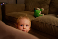 Ventura, Calif., November 17, 2010 - Finn Maddox Peveto, age 11 months, at home. .