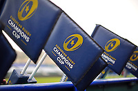A general view of European Rugby Champions Cup branded corner flags. European Rugby Champions Cup match, between Bath Rugby and RC Toulon on January 23, 2016 at the Recreation Ground in Bath, England. Photo by: Patrick Khachfe / Onside Images