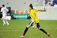 Goalkeeper Santiago Castano (1) of the New York Red Bulls. The USMNT U-17 defeated New York Red Bulls U-18 4-1 during a friendly at Red Bull Arena in Harrison, NJ, on October 09, 2010.