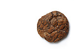 Chocolate cookie with copy space