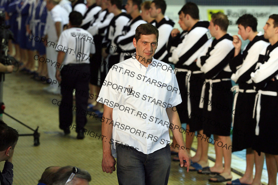 Sport vaterpolo waterpolo Partizan Belgrade Beograd Pompea Brescia Bresa grupa a liga sampiona Igor Milanovic 28.4.2007. photo: Pedja Milosavljevic