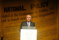 14/5/2006.(L TO R) fomer secretary to Eamon Devalera Maire O' Kelly & An Taoiseach Bertie Ahern TD  at the80th Anniversary of Fianna Fáil 1926-2006 at The Mansion House, Dublin..Photo: Collins