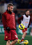 Calcio, Serie A: Roma vs Milan. Roma, stadio Olimpico, 22 dicembre 2012..AS Roma midfielder Daniele De Rossi warms up prior to the start of the Italian Serie A football match between AS Roma and AC Milan at Rome's Olympic stadium, 22 December 2012..UPDATE IMAGES PRESS/Isabella Bonotto