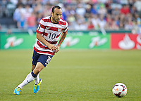 PORTLAND, Ore. - July 9, 2013: Landon Donovan controls the ball in the first half. The US Men's National team plays the National team of Belize during the 2013 Gold Cup at at JELD-WEN Field.