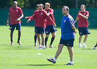 USA's Bruce Arena during practice in Hamburg, Germany, for the 2006 World Cup, June, 9, 2006.