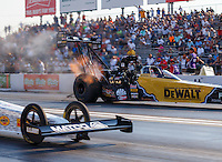 Sep 23, 2016; Madison, IL, USA; NHRA top fuel driver Doug Kalitta during qualifying for the Midwest Nationals at Gateway Motorsports Park. Mandatory Credit: Mark J. Rebilas-USA TODAY Sports