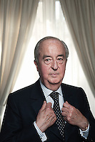 PARIS, SEPTEMBER 2010, 22. Edouard Balladur, former French Prime Minister, in his office. (photo by Antoine Doyen)
