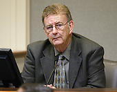 Albert Archer, a Baptist minister who runs the Lighthouse Mission, a homeless shelter in Bellingham, Washington, testifies during the trial of sniper suspect John Allen Muhammad in Virginia Beach Circuit Court in Virginia Beach, Virginia on November 7, 2003. <br /> Credit: Tracy Woodward - Pool via CNP