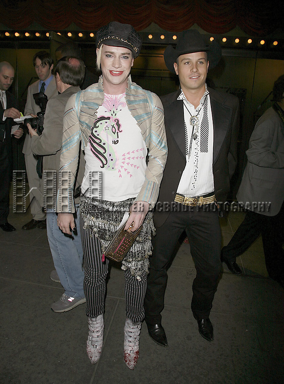 Richie Rich & Trevor Raines attending the Opening Night performance of the Roundabout Theatre Company's Broadway production of THE THREEPENNY OPERA at Studio 54 in New York City..April 20, 2006 .© Walter McBride/WM Photography