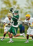 24 April 2012: Dartmouth College Big Green midfielder Chris Costabile, a Junior from Sykesville, MD, in action against the University of Vermont Catamounts at Virtue Field in Burlington, Vermont. The Big Green defeated the Catamounts 10-5 in Men's Varsity Lacrosse action. Mandatory Credit: Ed Wolfstein Photo