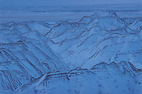 South Dakota. Badlands National Park in Snow established in 1978