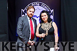 At the Fashion Show in aid of Aughacasla School on Friday at the Rose Hotel. Pictured Co-MC for the evening, RTE star Bernard O'Shea and Rebekah Wall,