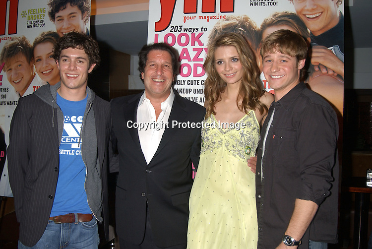"""Adam Brody, Peter Roth,  Ben McKenzie and Mischa Barton                                              ..at """"The O.C."""" Fox TV Show  party given by YM Magazine to celebrate the stars being on the cover of YM on    October 28, 2003 at LQ in New York City. ..Photo By Robin Platzer, Twin Images"""