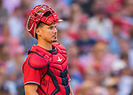 28 May 2016: Washington Nationals catcher Jose Lobaton in action against the St. Louis Cardinals at Nationals Park in Washington, DC. The Cardinals defeated the Nationals 9-4 to take a 2-games to 1 lead in their 4-game series. Mandatory Credit: Ed Wolfstein Photo *** RAW (NEF) Image File Available ***